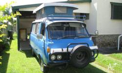 1974 TOYOTA HIACE CAMPER, WITH A 1979 MOTOR FITTED.