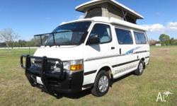 A tidy Toyota Hiace Campervan built by Discoverer