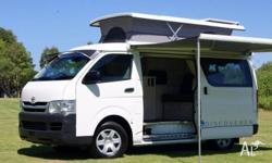Toyota Hiace Discoverer Automatic with Pop-top roof,