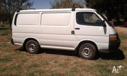 Built 1994 Toyota Hiace Van. 5 speed Manual, 2.4 litre