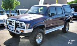 TOYOTA, HILUX, 1998, 4dr DUAL CAB P/UP, 3, 4cyl, 5sp