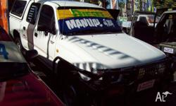TOYOTA,HILUX,LN167R,1999, 4WD, white, DUAL CAB P/UP,