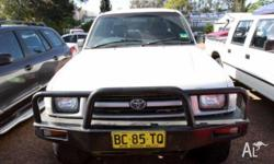 TOYOTA,HILUX,RZN174R,1998, 4WD, WHITE, X CAB P/UP,