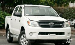 TOYOTA, HILUX, GGN25R 06 UPGRADE, 2007, 4x4, WHITE,