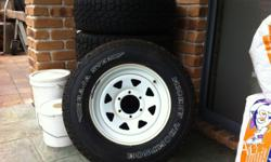 5 pressed steel rims with mickey thompson baja stz lt