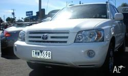 TOYOTA, KLUGER, MCU28R, 2005, 4WD, WHITE, 4D WAGON,