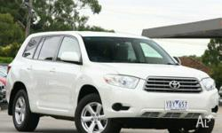 TOYOTA,KLUGER,GSU45R,2007, 4WD, White, 4D WAGON,