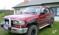 SOLD Toyota Landcruiser, 80 series 1991, 4lt 6cyl,