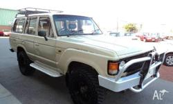 TOYOTA,LANDCRUISER,1984, 4WD, BROWN, 4D WAGON, 4230cc,