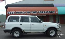 TOYOTA,LANDCRUISER,HZJ80R,1996, 4WD, white, Gray trim,