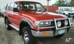 TOYOTA,LANDCRUISER,1990, 4WD, Red, 4D WAGON, 4164cc,