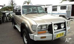 TOYOTA,LANDCRUISER,1994, 4WD, GOLD, 4D WAGON, 4477cc,