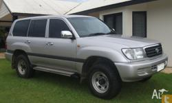 FOR SALE 2000 TOYOTA LANDCRUISER STATIONWAGON SILVER IN