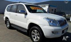 TOYOTA,LANDCRUISER,GRJ120R,2003, 4WD, WHITE, GREY trim,