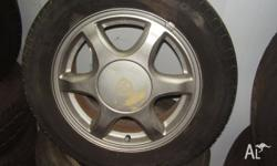 toyota levin alloy 15x6 wheels and tyres pcd 4x100 et