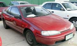 TOYOTA, PASEO, 1991, Burgundy, COUPE, 1.5L, MANUAL,