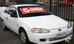 TOYOTA, PASEO, 1995, FWD, 12 mth reg, 2D COUPE, 1497cc,