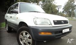 TOYOTA, RAV4, 1995, 4WD, WHITE, STD trim, 4D WAGON,