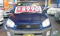 TOYOTA, RAV4, ACA21R, 2000, 4WD, Blue, Grey/Black trim,