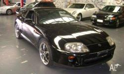 TOYOTA,SUPRA,1993, RWD, BLACK, GREY trim, 2D LIFTBACK,