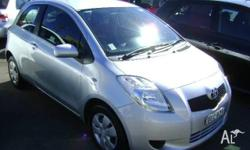 TOYOTA,YARIS,NCP90R,2008, FWD, SILVER, 3D HATCHBACK,