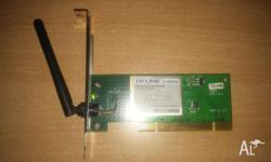 I have 2 Wireless LAN PCI Cards for $15 each 1) TP-Link