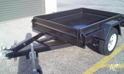 BOX TRAILER -7 x 4 HEAVY DUTY - BRAND NEW WITH 12 MONTH