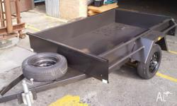 BOX TRAILER -7 x 4MEDIUM DUTY - BRAND NEW WITH 12 MONTH