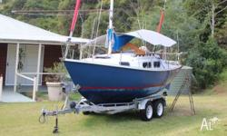 Aquarius Trailer Sailer, built approximately 1985. Very