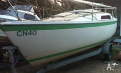 Cole 19 Yacht. Great little trailer sailer, two sets of