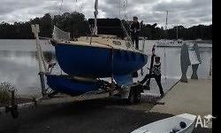 Twin keel family boat setup for cruising See below for