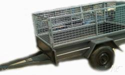 Trailers Box Trailer Box Trailer 7x4 H/Duty w. 2ft Cage