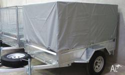 6 X 4 CAGE TRAILER FULLY GALVANISED WITH COVER, FULLY