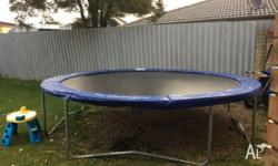 12 ft round trampoline with brand new spring pads.