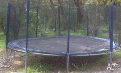 16ft round trampoline with safety netting, instructions