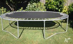 Trampoline 2.5m x 3.5m. Good condition. Mat is in very