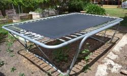 Full-size Rectangular shaped Trampoline for outdoors.