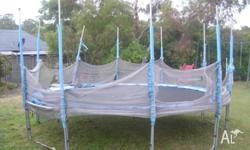 trampoline 14 ft no outside net no texts ph
