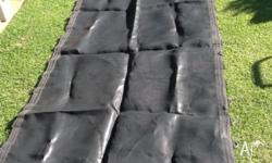 Trampoline replacement mat size 118cm wide. X 244 cm.