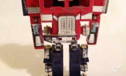 This is a set of 5 transformer toys for sale. Featuring