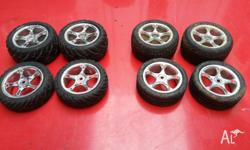 Up for sale is two full sets of wheels and tyers for
