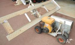 Trenching machine ideal for small trenches in lawns or