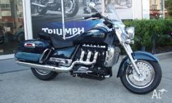 TRIUMPH,ROCKET III TOURING,MY10,2010, TWO TONE BLUE,