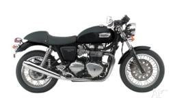 TRIUMPH, THRUXTON 900, MY10, 2011, BLACK, ROAD, 865cc,