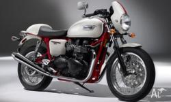 TRIUMPH, THRUXTON 900 SE, MY10, 2011, WHITE/RED, ROAD,