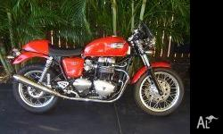 Here is my Triumph Thruxton for sale it has a Dart