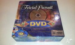 Trivial pursuit game with DVD questions as well as