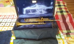 40 year old trumpet. Works fine. Needs laquering. Case