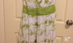Brand new with tag, green and white Tshape dress for