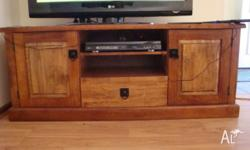 Low line TV cabinet with matching Buffet cabinet Solid